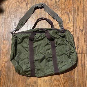 Large/medium Olive Green Duffel Bag